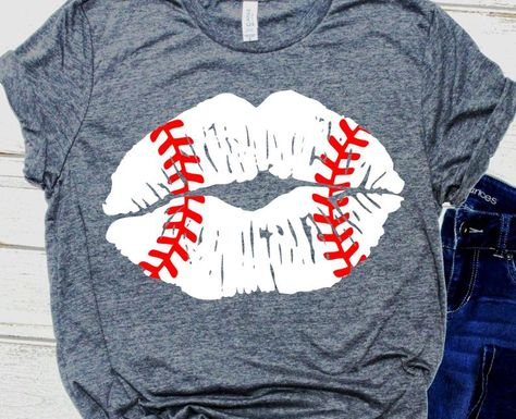 distressed baseball lips SVG, grunge kiss baseball stitches Svg, Baseball mom Svg files for Cricut Silhouette, softball sister svg girl cut Baseball Mom Shirts Ideas, Baseball Shirt Outfit, Baseball Outfits, Baseball Clothes, Baseball Shirt Designs, Baseball Sister, Softball Shirts, Baseball Stuff, Baseball Tees