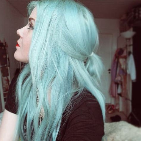 Nice Mint Green Hair Color Idea From Our Girls Love This Cool
