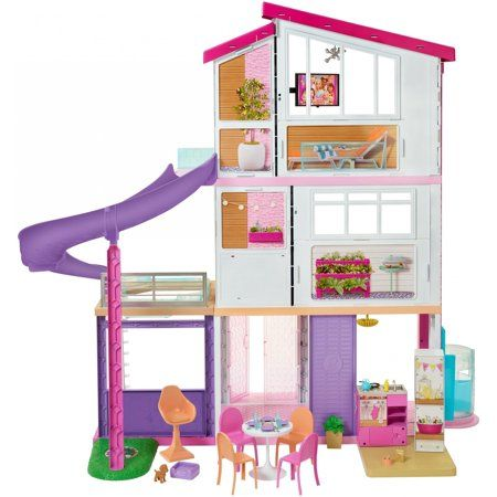 NEW Barbie DreamHouse Playset with 70 Accessory Pieces Girl Toy Gift