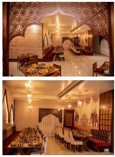 Rajwada The Traditional Style Restaurant In Jabalpur Design Cloud The Architects Diary In 2020 Restaurant Interior Design Restaurant Interior Interior
