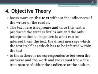Unit 1 Introduction To Literary Theory Criticism Literary Theory Read Theory Literary Criticism