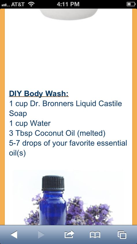 DIY body wash - I have all the ingredients except last one.