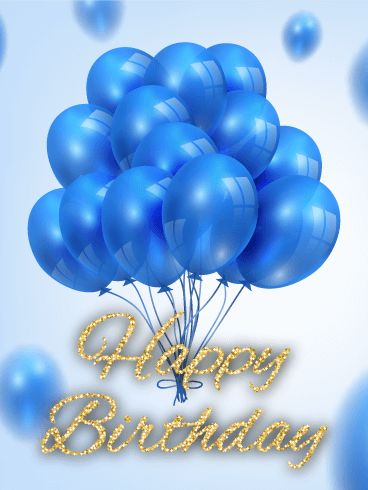 Blue Balloon B-Day Card: One glimpse of this gorgeous b-day card and anyone is bound to swoon. The balloon bouquet reinforces the excitement of an upcoming birthday, while the gold, glitter letters add a fun element to this b-day card. Whether you're searching for the perfect b-day card for your best friend or hoping to find something to send a colleague, this b-day card is a classic, great for any birthday celebration!