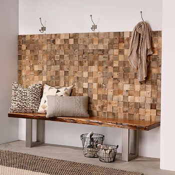 Timberwall Reclaimed Cube Peel And Stick Wood Wall Tiles Stick On Wood Wall Wood Wall Tiles Decor