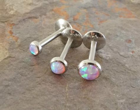 Surgical Steel Internally Threaded Labret Monroe with Enamel Filled 2mm Dome