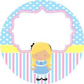 Olá mamães festeiras!         Hoje trouxe um presentinho pra vocês, um kit digital tema Alice no país da Maravilhas grátis para você im...