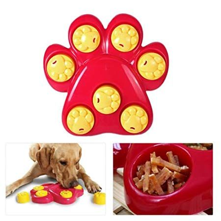 Aucatstore Tm Pet Dog Outward Paw Treat Games Food Dispensing