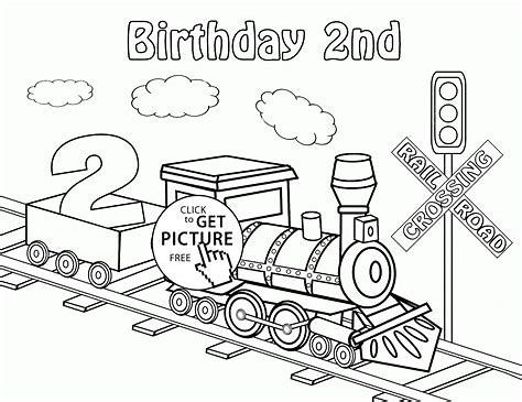 Image Result For Free Train Party Printables Birthday Coloring