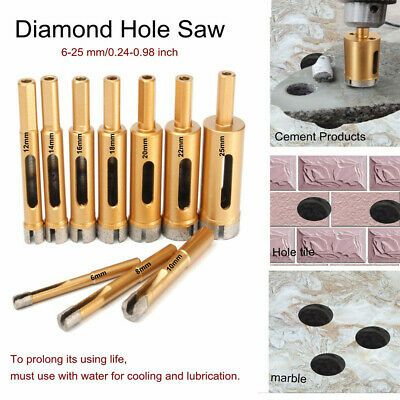 Sponsored Ebay 0 1 4in 0 31 32in Hole Saw Cutter Drill Bit For Marble Granite Tile Ceramic In 2020 Drill Bits Glass Marbles Hole Saw