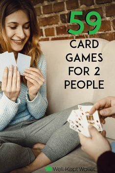 59 Card Games for 2 People for Cheap Entertainment Entertainment can be expensive. If you have a deck of cards, then keep reading for 59 two-person card games that will have you entertained all night long. Gift Card Games, Family Card Games, Card Games For Kids, Games For Girls, Two Person Card Games, Games For Two People, Two Person Drinking Games, Dice Games, Games To Play