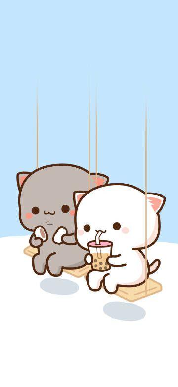 Juntitos In A Park 3 Cute Cartoon Wallpapers Cute Cat Wallpaper Cute Kawaii Animals Cartoon cute cat wallpaper