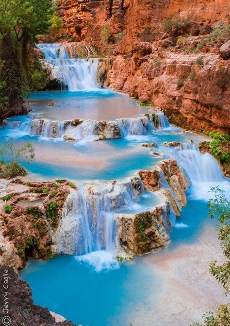 17 Most Beautiful Places to Visit in Arizona - The Crazy Tourist Beaver Falls in Havasu Creek by Jerry Cagle