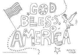 Image Result For God Bless The Usa Images Coloring Pages