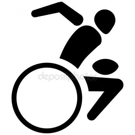 Telecharger Il S Agit De Sport Pictogramme Rugby En Fauteuil Roulant Des Jeux Ideal Pour Les Materiaux S Illustration Vectorielle Illustration Pictogramme