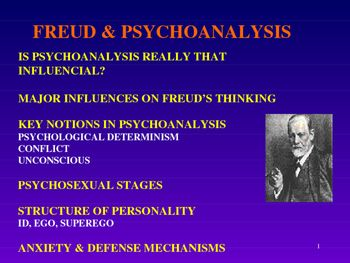 Psychology Freud And Psychoanalysis Powerpoint Psychology