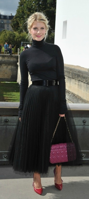 Melanie Laurent arrives at the Christian Dior Spring / Summer 2013...