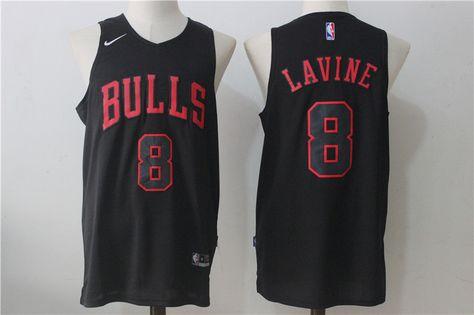 Chicago Bulls  8 Zach LaVine 2017-18 Road Red New Swingman Jersey ... 29cf294a3