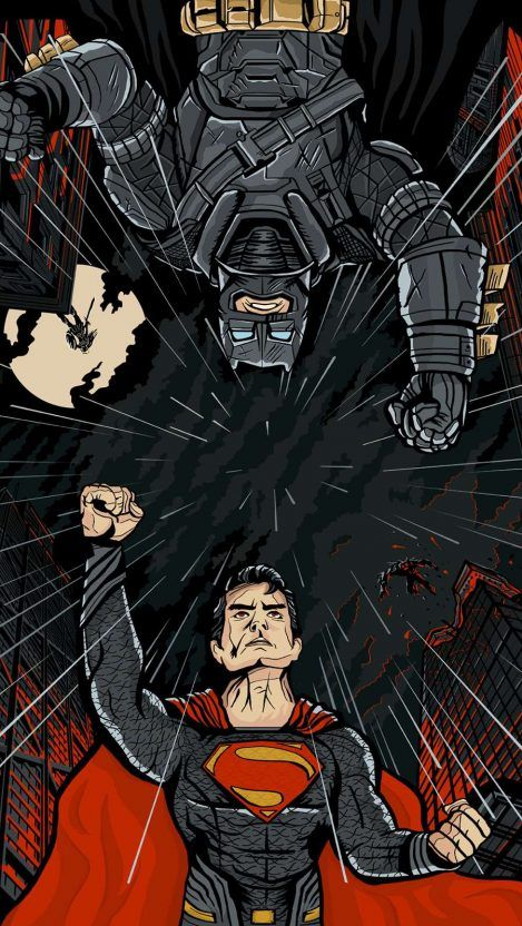 Armored Batman And Superman Fight Iphone Wallpaper Superman