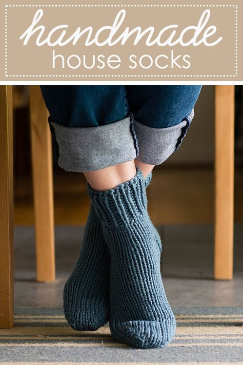 Grey knitted socks Womens hand knit