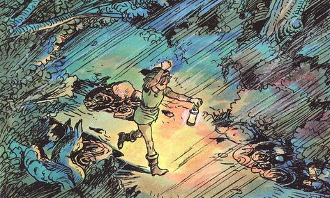 Art For The First Few Zelda Games By Katsuya Terada Tom Desenho