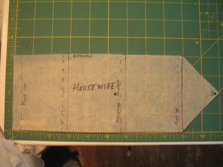 18th Century Housewife wallet sewing kit pattern Colonial