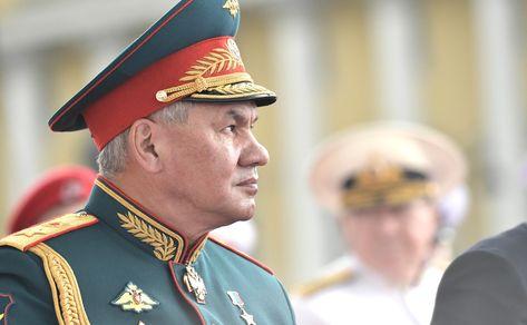 Главный военно-морской парад. Министр обороны Сергей Шойгу.