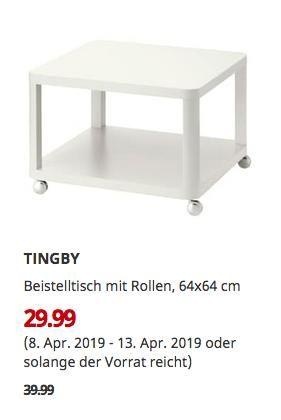 Ikea Essen Tingby Beistelltisch Mit Rollen Weiss 64x64 Cm Beistelltisch Rollen Beistelltisch Ikea Essen