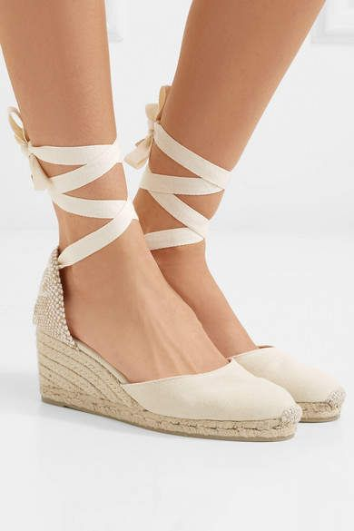 ca34bb58a74 Cute 😍 Castañer - Carina Canvas Wedge Espadrilles - Ivory | Shoes ...