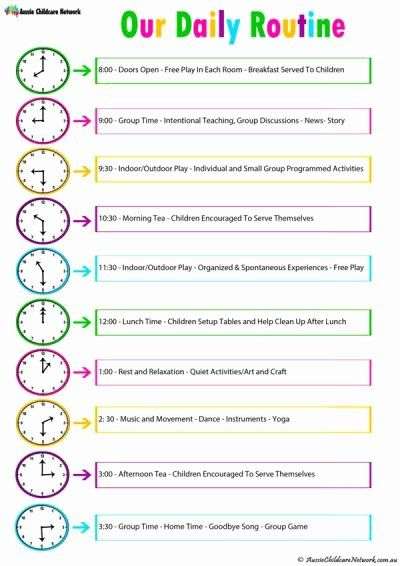 Daily Routine Schedule Template Elegant Daily Room Routine Template Aussie Childcare Ne Daily Routine Schedule Aussie Childcare Network Beauty Routine Schedule