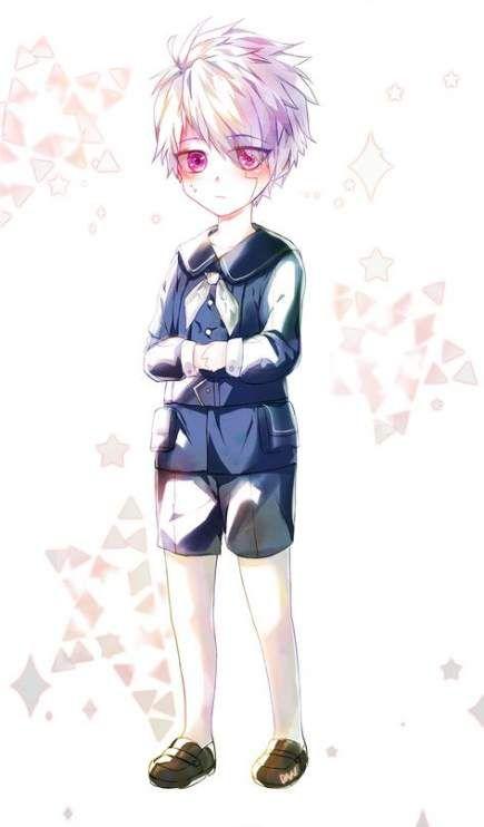 photo White Hair Boy Anime Child pin on anime child