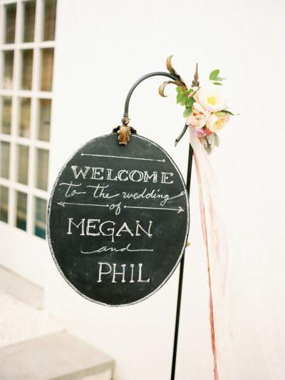 Love this wedding sign: http://www.stylemepretty.com/2015/01/08/classic-pastel-rosemary-beach-wedding/   Photography: Lauren Kinsey - http://laurenkinsey.com/
