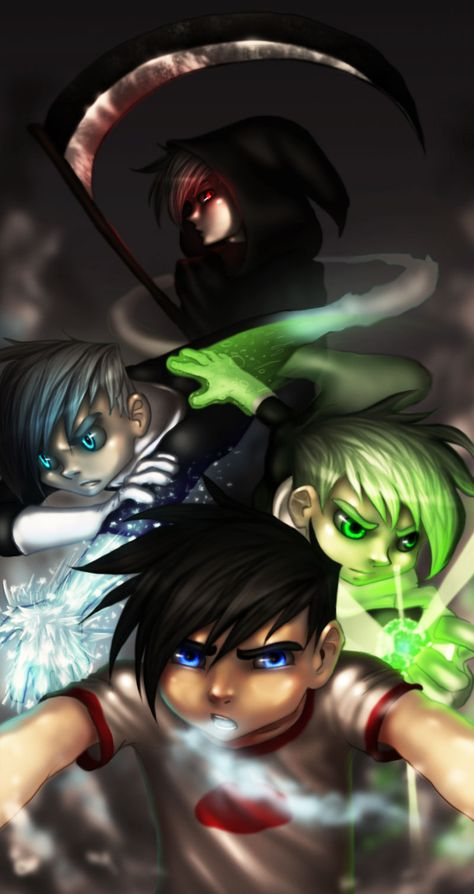 Random I know, but i was feeling Danny Phantom for some reason As you can see I have included the 4 main forms of Danny Phantom. Do enjoy ^_^ here's other DP fanart I've done: