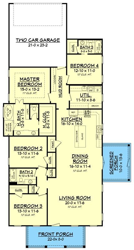 Plan 51783hz Compact Craftsman House Plan Ideal For A Narrow Lot Narrow Lot House Plans Narrow House Plans Craftsman Style House Plans