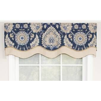 Rlf Home Ophelia Patchwork Tab Iris Curtain Valance Reviews