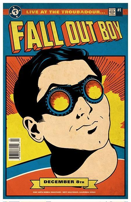 Fall Out Boy 40 Awesome Concert Posters Yahoo Music Concert Poster Design Vintage Music Posters Concert Posters