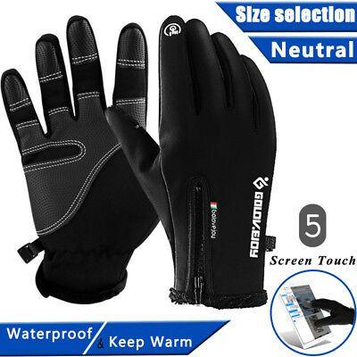Ebay Ad Link Ski Gloves Zipper Winter Sports Thermal Touch Waterproof Snowboard Skiing Ski Gloves Snowboard Gloves Leather Gloves Winter