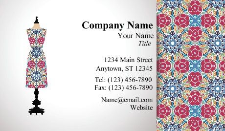 Clothing Business Cards Fashion With