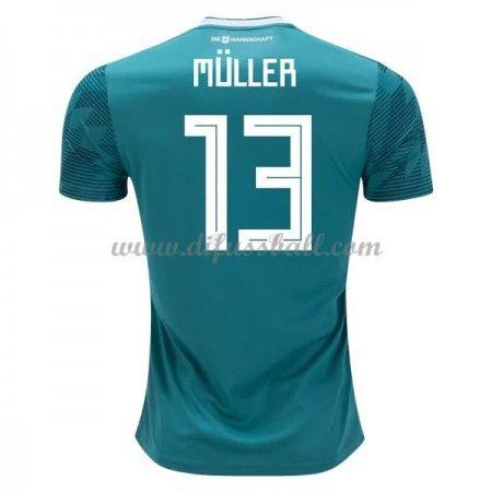 Gunstige Fussballtrikots Deutschland Trikot Nationalmannschaft Wm 2018 Thomas Muller 13 Auswartstrikot Kurz Deutschland Trikot Nationalmannschaft Fussballtrikots