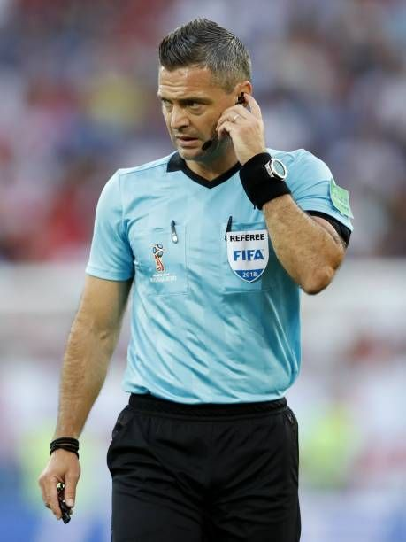 Referee Damir Skomina During The 2018 Fifa World Cup Russia Group G Match Between England And Belgium At The Kalingrad Stadium On June 28 2018 In