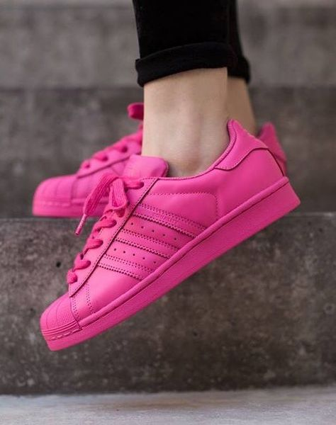 adidas superstar colour rosa