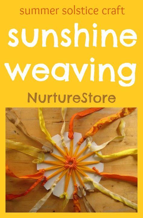 Beautiful sun weaving - perfect summer craft for kids!