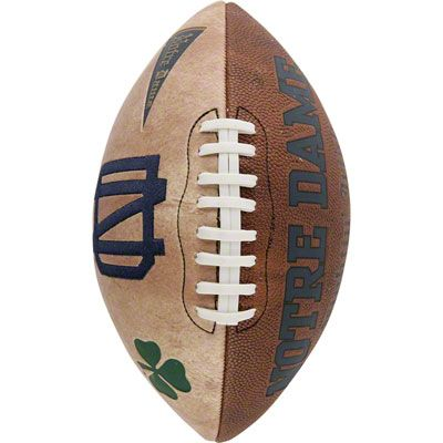 Notre Dame Fighting Irish Vintage Football  sitting on our mantle!