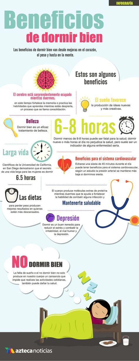 Es importante descansar y dormir bien para rendir en tu trabajo, tus estudios o en tu rutina diaria. Os dejamos una #infografía con los beneficios de descansar las horas necesarias. #salud