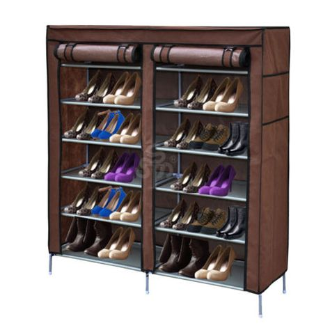 Portable And Easy Clean Fabric Shoe Cabinet Organizer Large Shoe