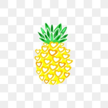 Simple Golden Summer Fruit 2018 Pineapple Happy Png And Vector With Transparent Background For Free Download Pineapple Illustration Summer Fruit Fruit Vector