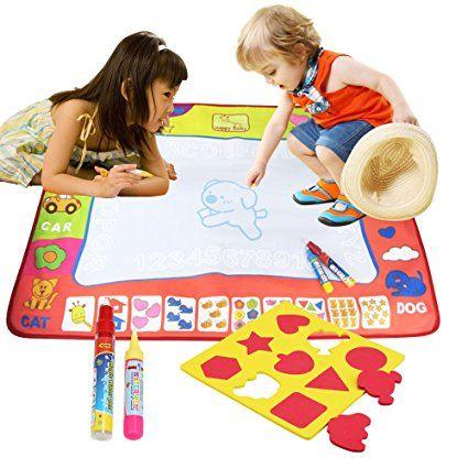 Tapis Dessin Bellestyle 4 Couleurs Eau Peinture Doodle Magic Tapis Avec 2 Stylos A Eau Et 9 Moules Pour Les Enfants A Doodle Magic Dessin Gratuit Stylo A Eau