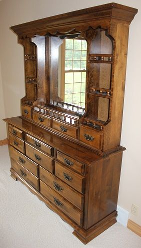 Dresser With Mirror And Shelves More Information Kopihijau