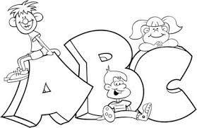 Resultado De Imagem Para Criancas Lendo Para Colorir Alfabeto