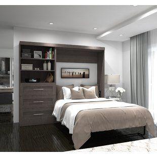 Canora Grey Barham Cube Queen Murphy Bed With Mattress Wayfair Modern Murphy Beds Murphy Bed Plans Murphy Bed