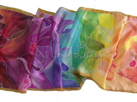 Ajándék ötletek nőknek - áldás selyem sál színátmenetekkel